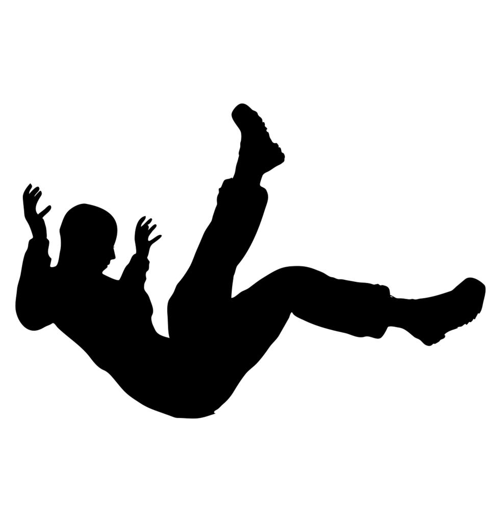転倒する人