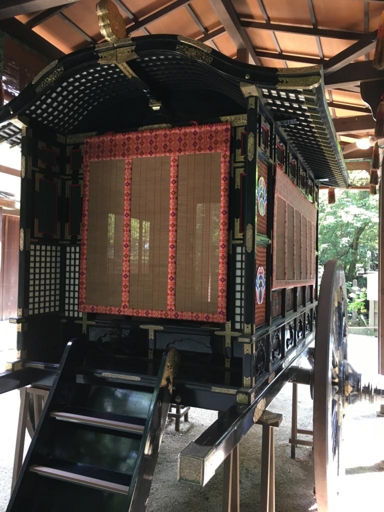葵祭で使われる牛車