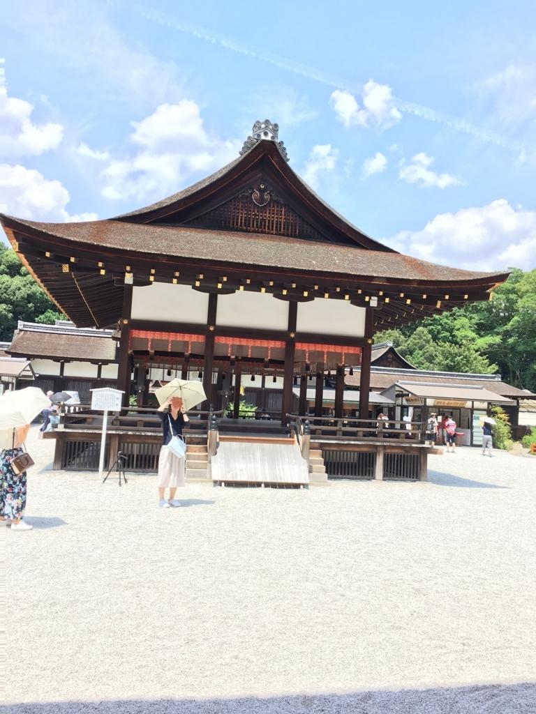 下鴨神社の舞殿