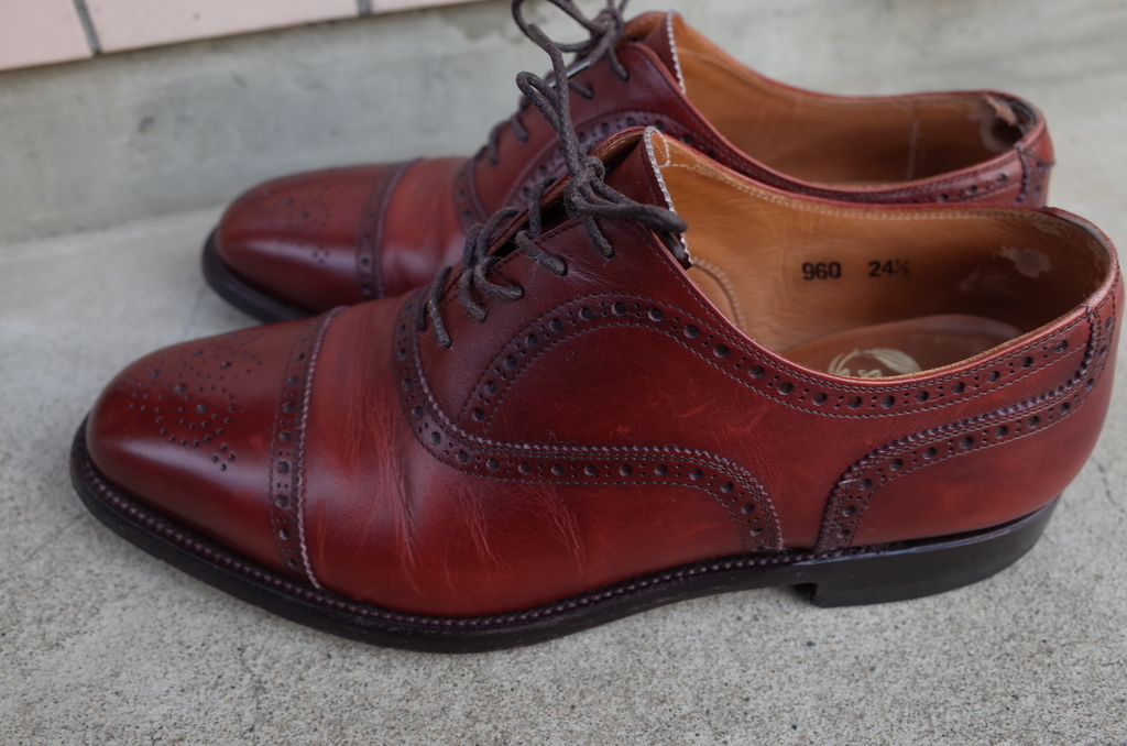 靴の経年変化