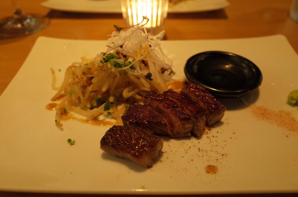 鉄板焼き「天」のサーロインステーキ