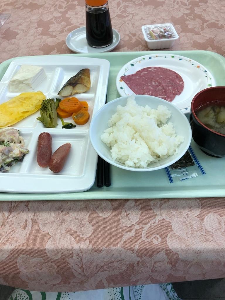 塩原温泉ホテルの食事(これは朝食バイキング)