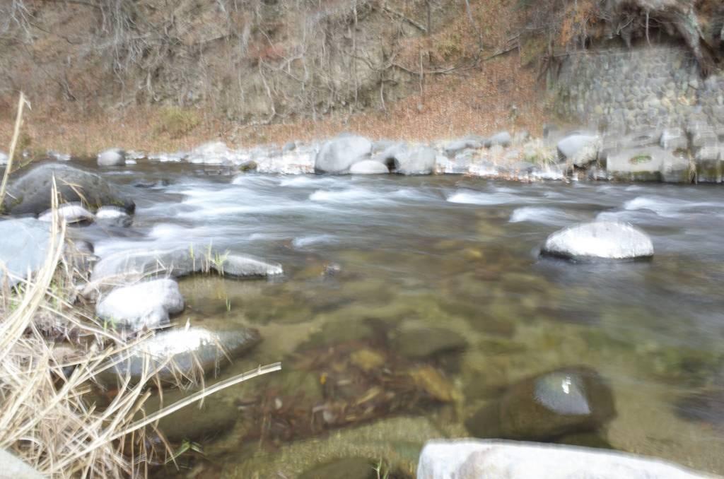 箒川の清流