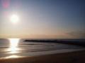 というわけで岩井海岸なう 早めの夕陽