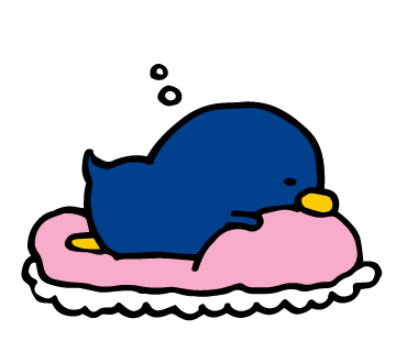 寝てるペンギン
