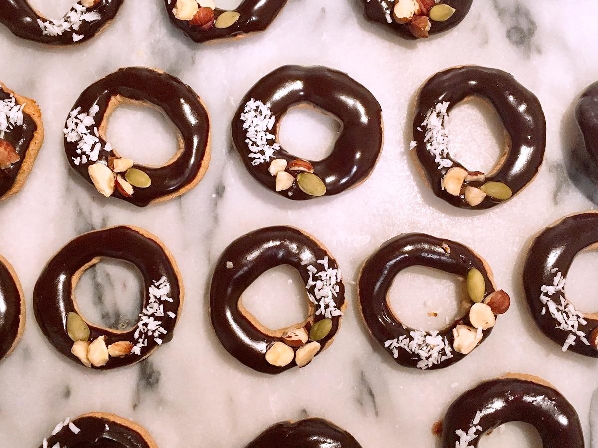 Vegan Baked Doughnut Cookies