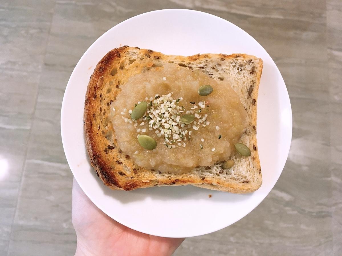 Vegan Apple Sauce Toast
