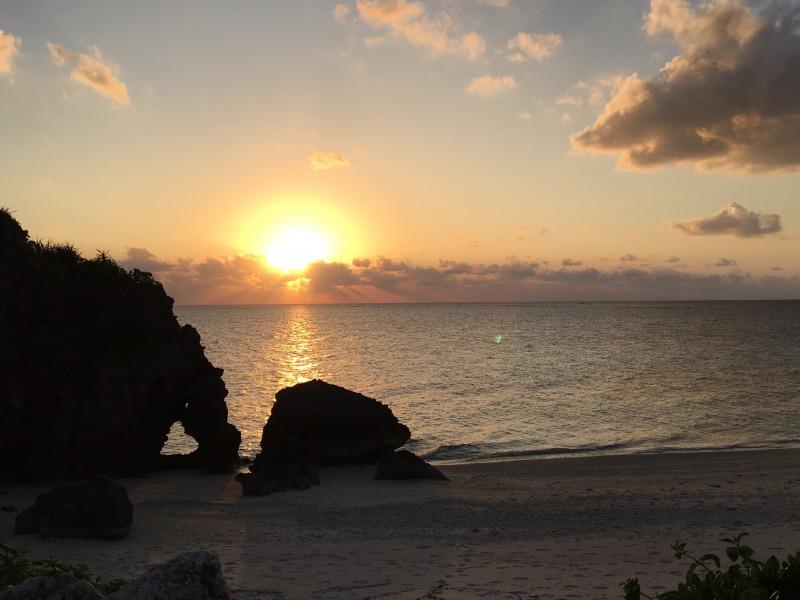 heart rock  sunset 2
