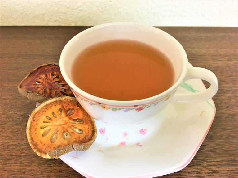 hot Bael fruit tea