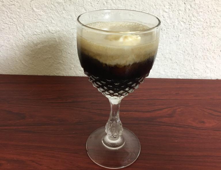 Black beer float