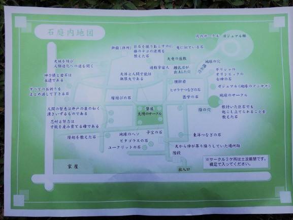 Map of rock garden