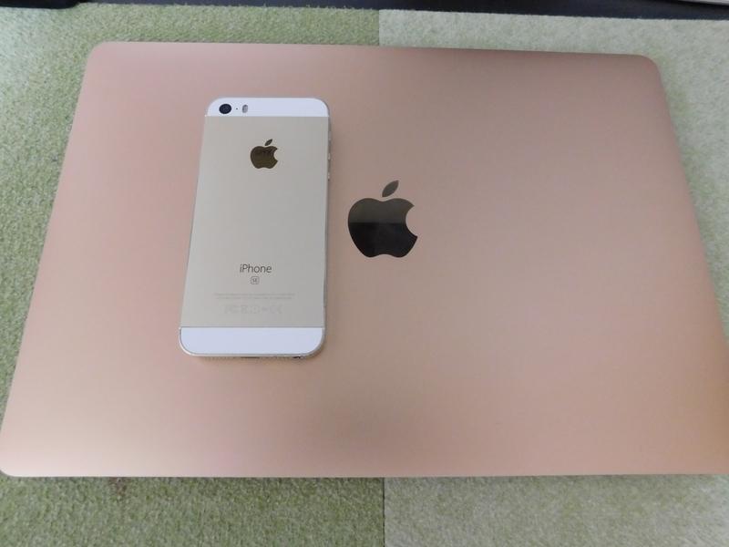 Mac ゴールド ピンク