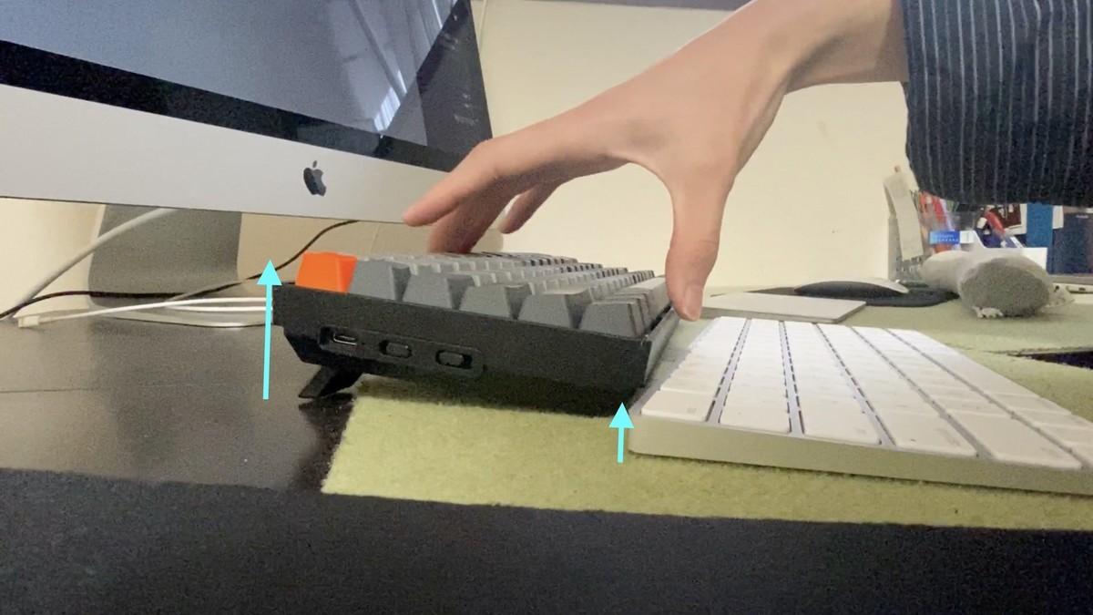 keychronK2キーボード 分厚さ マジックキーボード  メカニカルキーボード