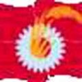 日本共産党 党旗 の 赤旗 (歯車に稲穂は労農同盟・4つの旗略式旗)