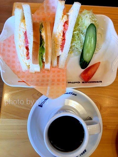 コメダ珈琲のサンドイッチB