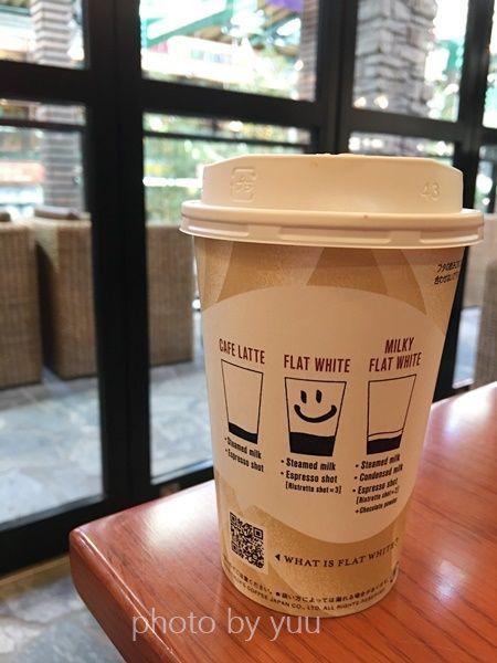 タリーズの新メニューコーヒーフラットホワイト