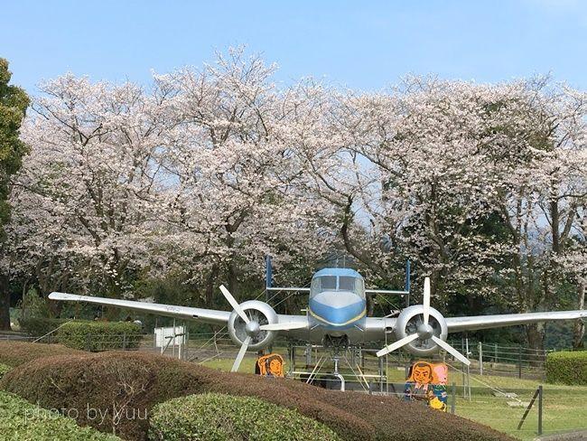 城山公園のプロペラ機
