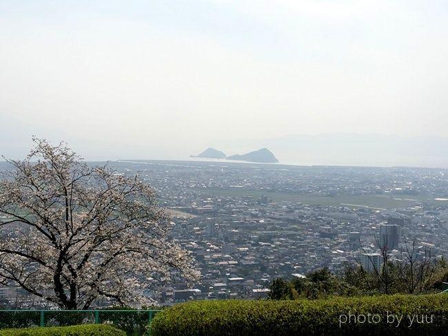 城山公園展望台から見た景色