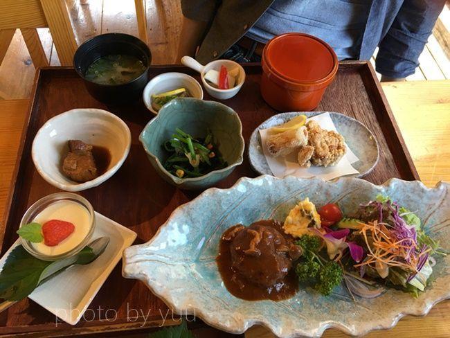 雄川の滝近くのカフェ葉っぱdeli