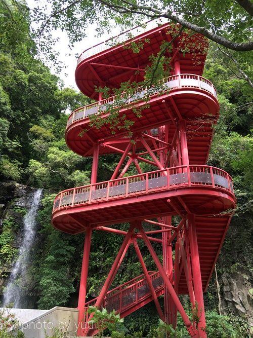 大滝公園の吊り橋に行く階段