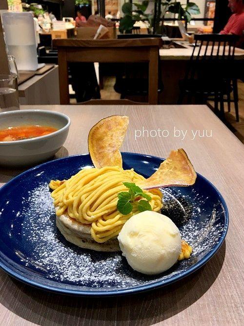 九州パンケーキのモンブランパンケーキ食べた感想