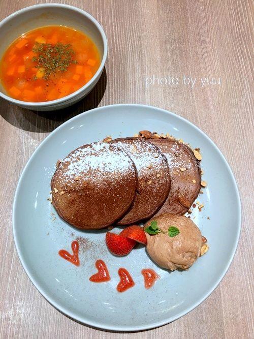 九州パンケーキキッチンのチョコレートパンケーキ