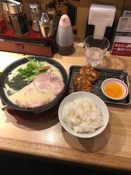 白トンコツチャーシュー麺 トンからセット ご飯