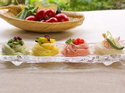 プレゼント画像:夏野菜を使った三輪そうめん詰合せ