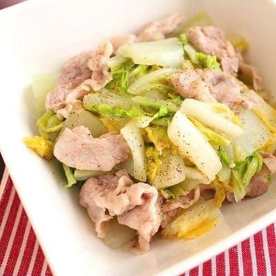 豚バラ2位!白菜と豚肉の塩だれ蒸し