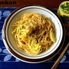 パスタ・麺1位!ツナ缶と春キャベツのスパゲッティ