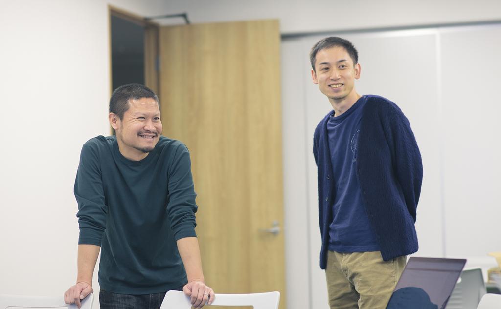 あたたかく見守るリーダー陣 宇田川(左)小川(右)