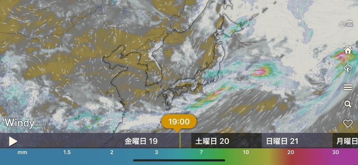 台風の風向き予測アプリ『Windy』が秀逸