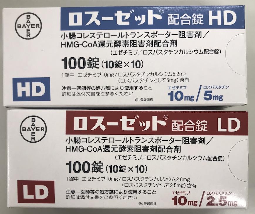 ロスーゼット配合錠LD/HDの箱