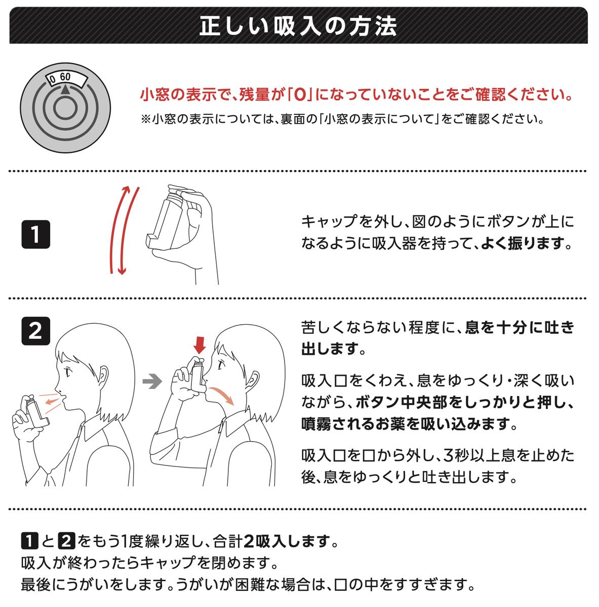 ビレーズトリエアロスフィアの吸入方法