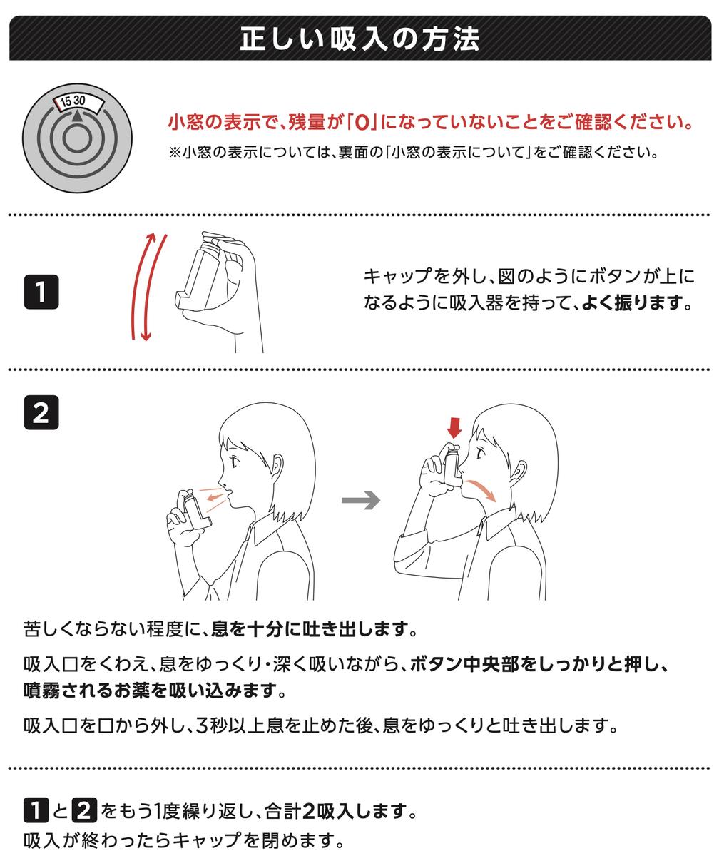 ビベスピエアロスフィア28吸入 吸入方法
