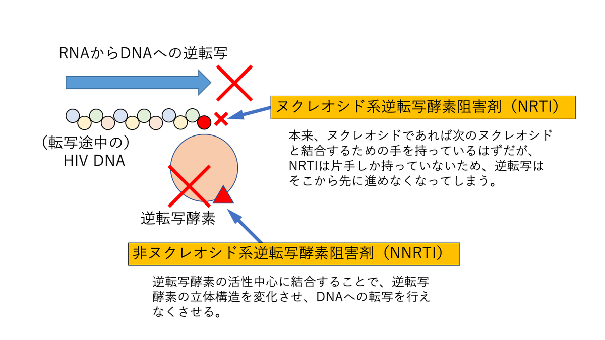 NRTIとNNRTI