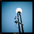 お台場の街灯に風車