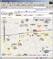 [Web][Google][Map][地図][保谷][100]縮尺200mの保谷駅周辺のGoogleMap画像です。