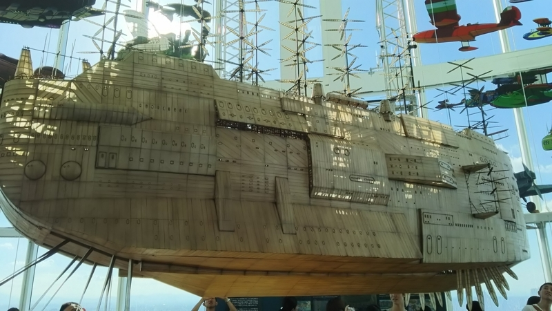 ラピュタのオープニングに登場する船