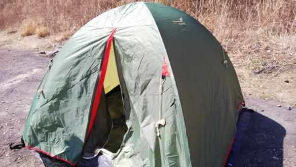 テントが完成