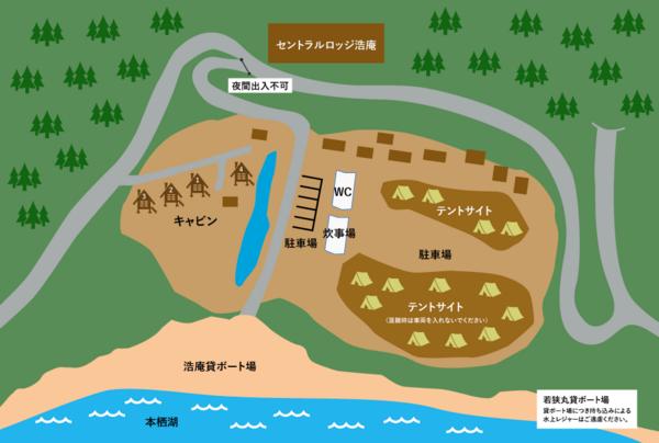 キャンプ場の全体図