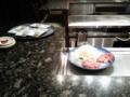 今日の夕食は鉄板焼き!柔らかくてうまかったー