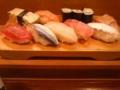 今日の昼は、贅沢して寿司!うまーい