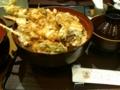 今日の夕飯はUDXでメガ天丼。おいしくいただきましたー。