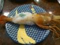 今日復活記念に寿司!ボタン海老でけぇ