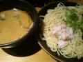 昼食は蟹つけ麺。めっちゃ濃厚な蟹つけ汁だった