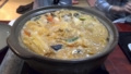 お次にあんこう鍋。味噌とアンキモの濃厚なスープがうまい!