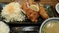 牡蠣フライ定食。臭みがなくてうまい