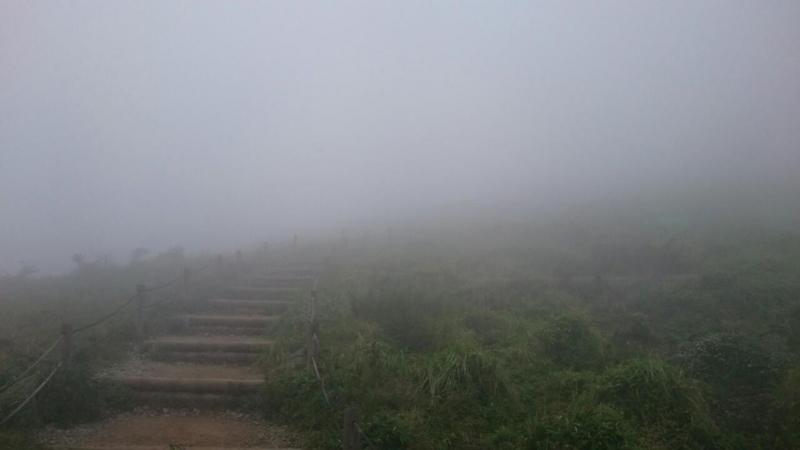 駒ヶ岳頂上。道はずれたら遭難しそう