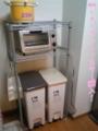 台所に棚を設置。トースターも買いました